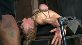 This helpless blonde prostitute is..