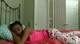 Sleeping ebony chick Jazzy Jamison..