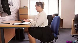 Naughty babes that work in offices and love to make different task for their bosses, especially, if it's a blowjob.