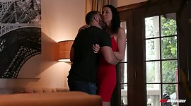 Foxy fake tittied milf Reagan Foxx has..