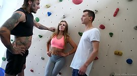 2 climbers enjoy spanking anus and..