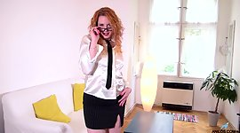 Sex-starved milf Monita is beating her..