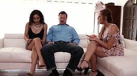 Perverted  invites sexy co-worker for..