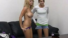 Audition two young girls. Facial..