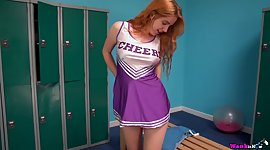 Lovely red haired cheerleader..