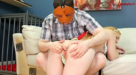 Natural blonde chick acquires spanked..
