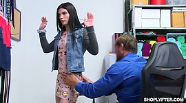 Shoplifting dark-haired Sadie Blake..