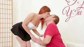 Ginger vixen Renata Fox gives her..