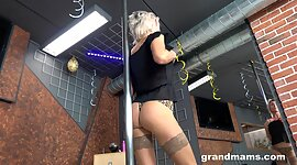 Old stripper Snejanna is dancing and..
