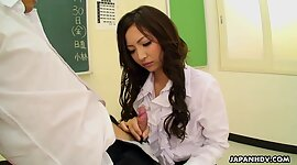 Sexiest Japanese professor gives a..