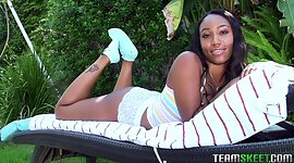 Shaded complexion pornstar gives an..