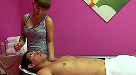 Nikko Jordan giving a massage