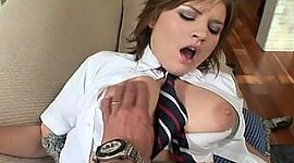 Wowing schoolgirl, sucking, spanking..