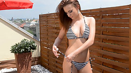 Sultry red haired girl gets kinky and..